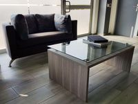 Coffee Table with risers and glass top
