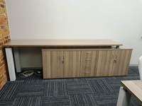 Server unit with cupboards and drawers