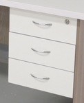 Fitted 3 drawer pedestal