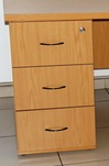 Desk high 3 drawer pedestal